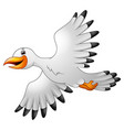 cartoon seagulls flying vector image