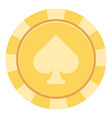 casino chips icon flat style vector image vector image