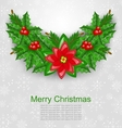 Christmas Decoration with Holly Berry vector image