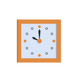 clock icon square wall clock showing time vector image vector image