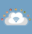 cloud computing with wifi internet connection vector image