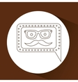concept hipster mustache and glasses graphic vector image vector image