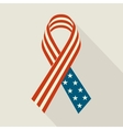 Creative Ribbon with USA Flag For Memorial Day vector image vector image