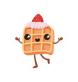 cute sandwich biscuit with cream funny fast food vector image vector image