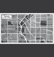 denver usa city map in retro style outline map vector image vector image