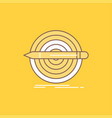 design goal pencil set target flat line filled vector image