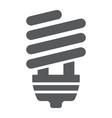 energy saving glyph icon ecology lamp vector image vector image