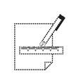 fountain pen and sheet icon vector image