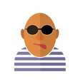 gangster icon isolated vector image vector image