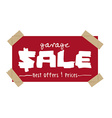 garage sale design vector image