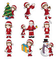 girl with christmas stuff vector image