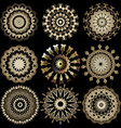 greek ornamental round mandala patterns set vector image vector image