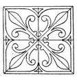 greek square panel found in bloxham church vector image vector image