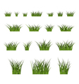 Green grass bushes set nature vector image vector image