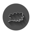 hand drawn thought speech bubble on black vector image