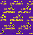 happy halloween background seamless with vector image vector image