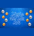 happy new year typography on card vector image vector image