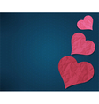 Hearts from old paper vector image vector image