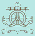 icon on the sea theme lifebuoy anchor steering vector image vector image
