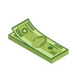 isometric stack money currency or cash icon vector image