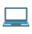 laptop computer device icon vector image vector image