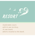 logo of the resort vector image vector image