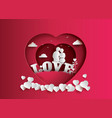 love and valentines day vector image vector image