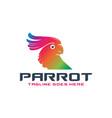 modern parrot head logo vector image