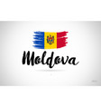 moldova country flag concept with grunge design vector image vector image