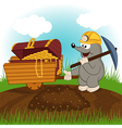 mole dug treasure vector image vector image