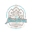 Mountain camp emblems for t shirt vector image vector image