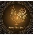New Year greeting card with Rooster vector image vector image