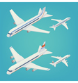 Passenger Airplane Isometric Passenger Airliner vector image vector image