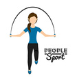 people sport vector image