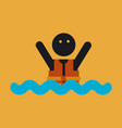 people wearing reflective life jacket man vector image vector image