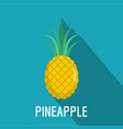 pineapple icon flat style vector image vector image