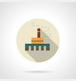 processing plant flat round icon vector image vector image