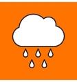rain icon Eps10 vector image vector image
