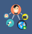 Referral marketing concept Flat design Isolated on vector image