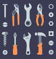 Repair tools simple icons set vector image