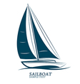 sailboats vector image