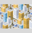 seamless urban plan vector image
