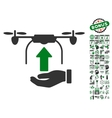 Send Drone Hand Icon With Bonus vector image vector image