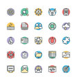 SEO and Internet Marketing Cool Icons 3 vector image vector image