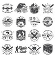 set of baseball and skateboard club badge vector image vector image