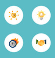 set of idea icons flat style symbols with deadline vector image