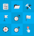set simple design icons vector image