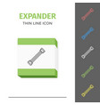 simple line stroked handle expander icon vector image vector image
