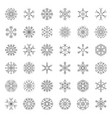 snowflakes icon pixel perfect editable stroke vector image
