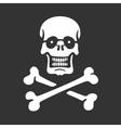 stencil skull and bones vector image vector image